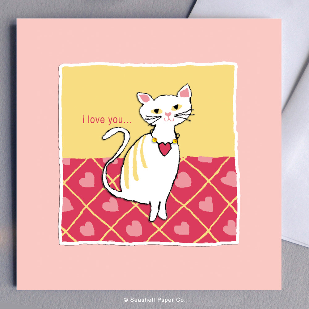 Love Kitty Card - seashell-paper-co