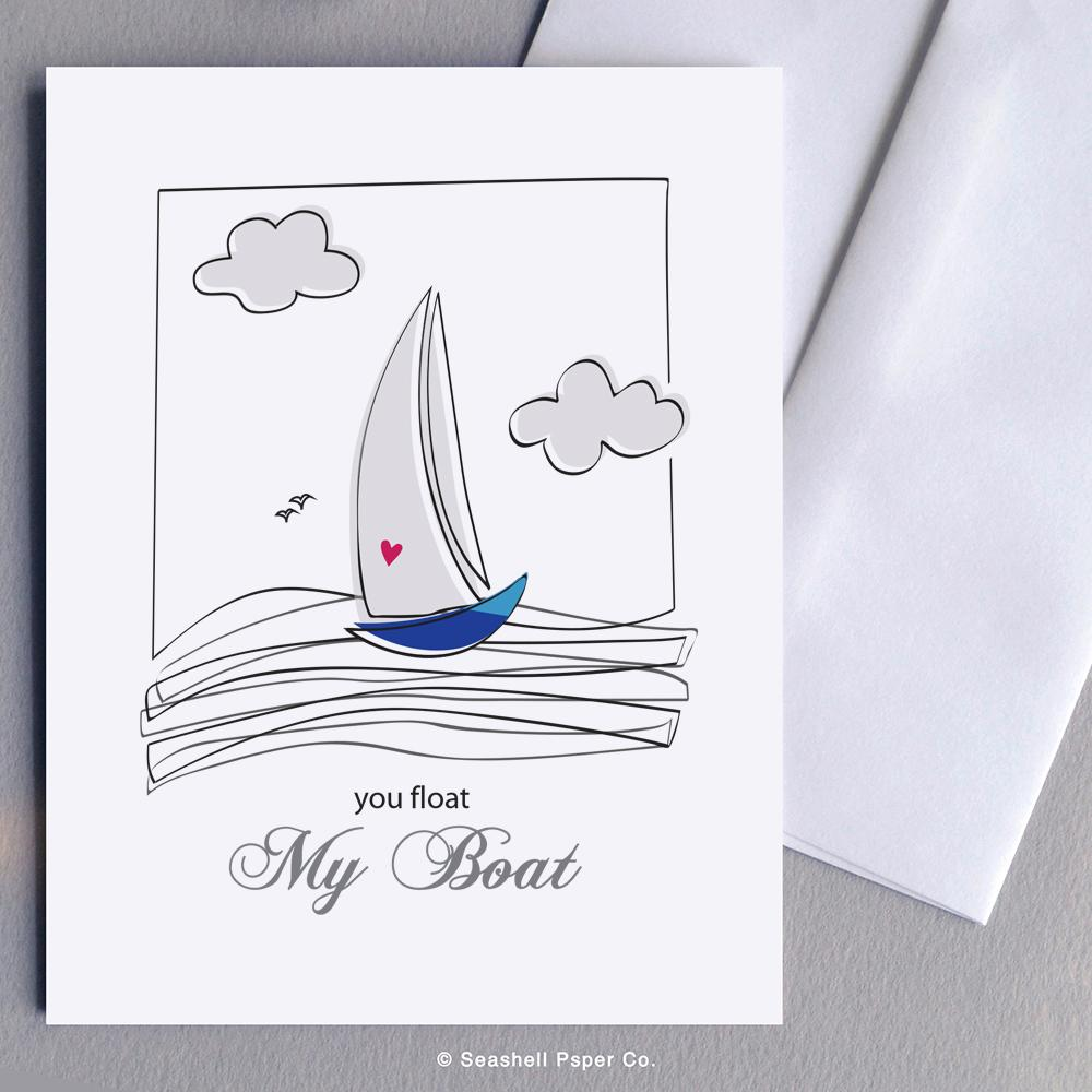 Love Boat Card Wholesale (Package of 6) - seashell-paper-co