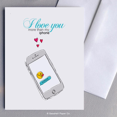 Love iPhone Card Wholesale (Package of 6) - seashell-paper-co