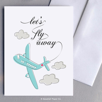 Love Airplane Card Wholesale (Package of 6) - seashell-paper-co