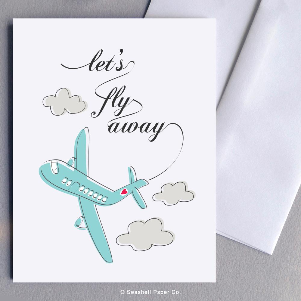 Love Airplane Card Wholesale (Package of 6)