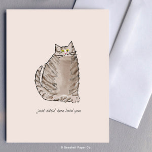 Love Cat Card - seashell-paper-co