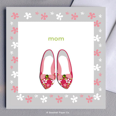 Mother's Day Shoes Card Wholesale (Package of 6) - seashell-paper-co