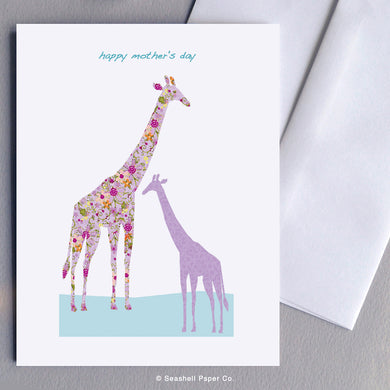 Mother's Day Giraffe Card - seashell-paper-co