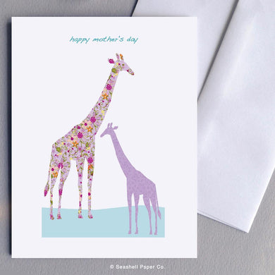 Mother's Day Giraffe Card Wholesale (Package of 6) - seashell-paper-co