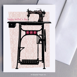 Mother's Day Sewing Machine Card - seashell-paper-co