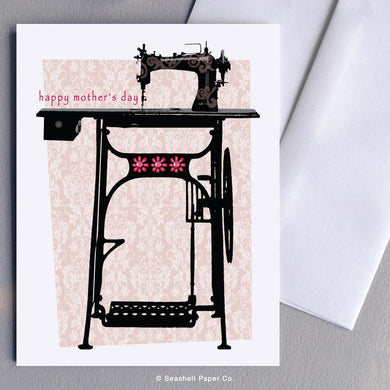 Mother's Day Sewing Machine Card Wholesale (Package of 6) - seashell-paper-co
