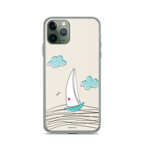 Love Sailboat iPhone Case