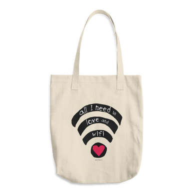 Tote Bag, Wifi, Love, Funny, Cute, Bag, Fashion, For her, Fashion