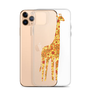 Yellow Floral Giraffe iPhone Case