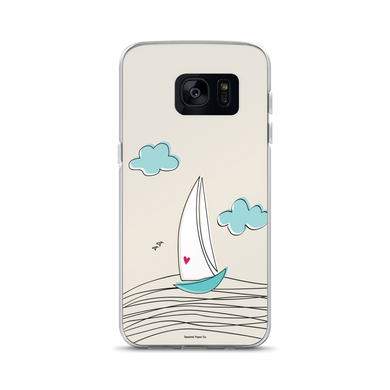 Sailboat Samsung Case - seashell-paper-co