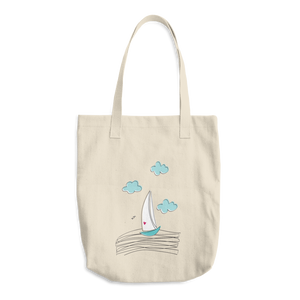 Sailboat Cotton Tote Bag