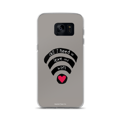 All I need is Love and Wifi Samsung Case