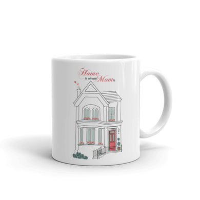 Mug, Coffee Mugs, Mom, Gift, For mom, mother, motherès day, mom birthday,Trendy, Urban, Ceramic , Ceramic, Dishwasher and microwave safe, White and glossy