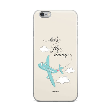 Let's Fly Away iPhone Case - seashell-paper-co