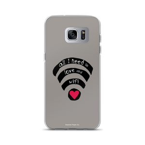 All I need is Love and Wifi Samsung Case - seashell-paper-co
