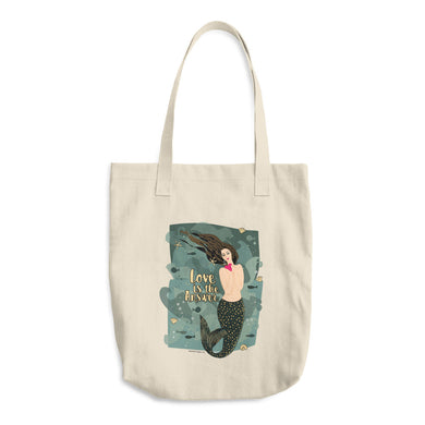 Tote Bag, Mermaid, Love, Funny, Cute, Bag, Fashion, For her, Ocean, Heart