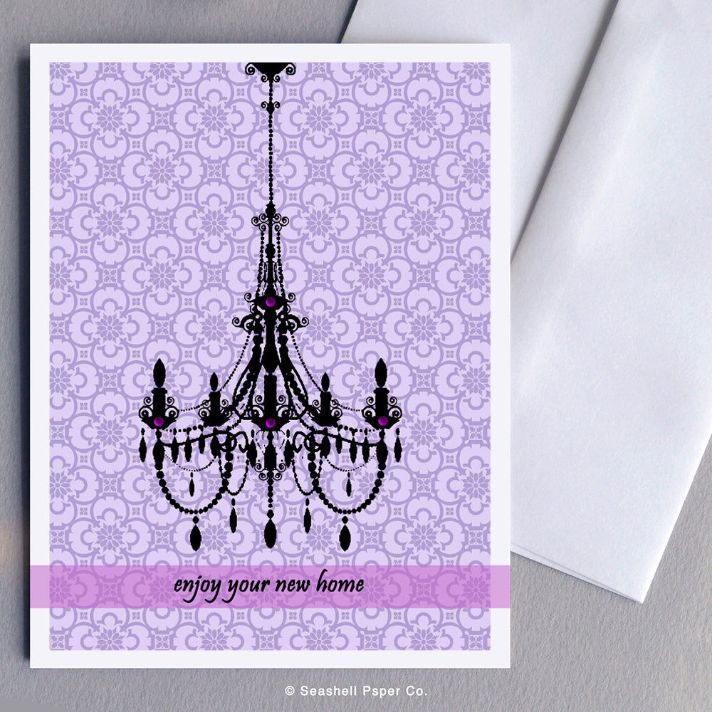 New Home Chandelier Card - seashell-paper-co
