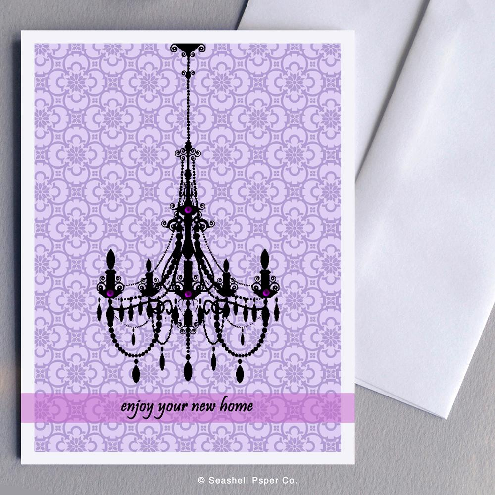 New Home Chandelier Card Wholesale (Package of 6) - seashell-paper-co
