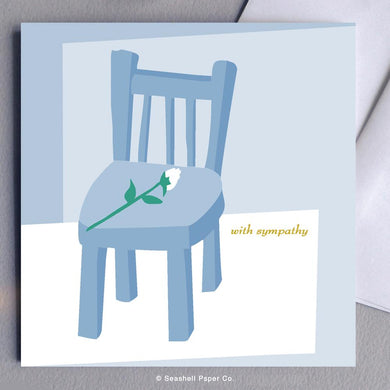 Sympathy Empty Chair Card Wholesale (Package of 6) - seashell-paper-co