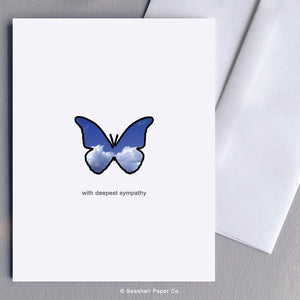 Greeting Card, Sympathy, Sympathy Card, Sympathy Greeting Card, With Deepest Sympathy, With Deepest Sympathy Card, With Deepest Sympathy Greeting Card, Butterfly, Butterfly Sympathy Card, Butterfly Sympathy Greeting Card, Butterfly with Deepest Sympathy Greeting Card, Seashell Paper Co, Stationary, Made in Canada, Sale