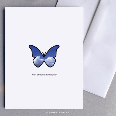 Sympathy Butterfly Card Wholesale (Package of 6) - seashell-paper-co