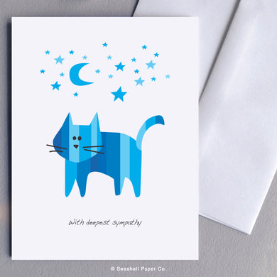 Sympathy Cat Card - seashell-paper-co