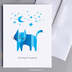 Sympathy Cat Card Wholesale (Package of 6) - seashell-paper-co