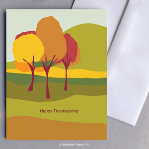 Thanksgiving Landscape Card - seashell-paper-co