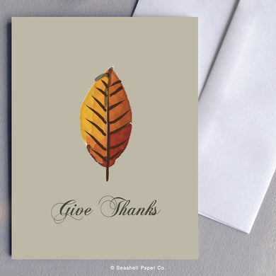 Thanks Giving leaf Card - seashell-paper-co