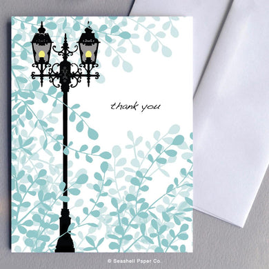 Thank You Lamp Post Card Wholesale (Package of 6) - seashell-paper-co