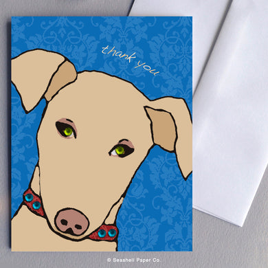 Thank You Doggie Card - seashell-paper-co
