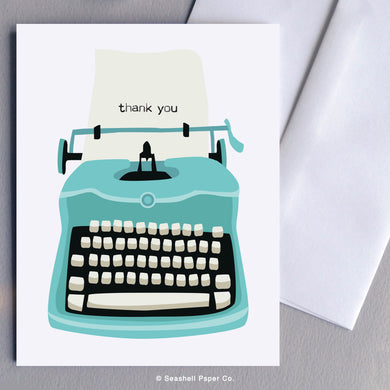 Typewriter Thank You Card - seashell-paper-co