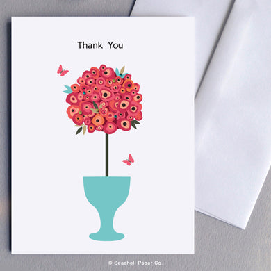 Thank You Flowers Card - seashell-paper-co