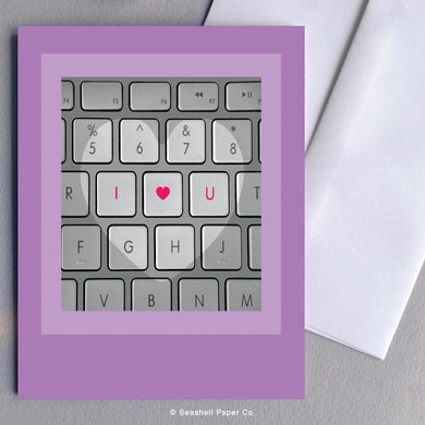 Love Keyboard Card Wholesale (Package of 6) - seashell-paper-co