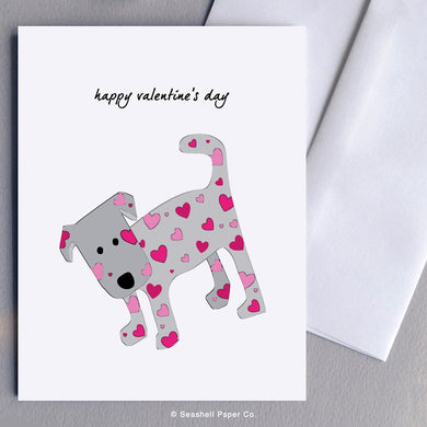 Valentine's Day Dog Card - seashell-paper-co