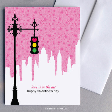 Greeting Cards, Love, Love Greeting Card, Valentine, Valentine's Day Greeting Card, Love Greeting Card, Love Valentine's Day Greeting Card, Traffic Light, Vintage Traffic Light, Traffic Light Valentine's Day Greeting Card, Vintage Traffic Light Valentine's Day Greeting Card, Seashell Paper Co., Made in Canada, Sale, Traffic Light Valentine's Day Card