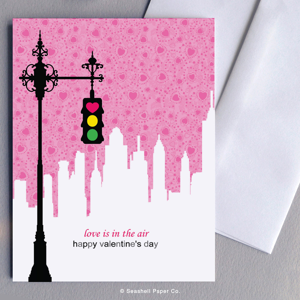 Love Valentine's Day Traffic Light Card - seashell-paper-co