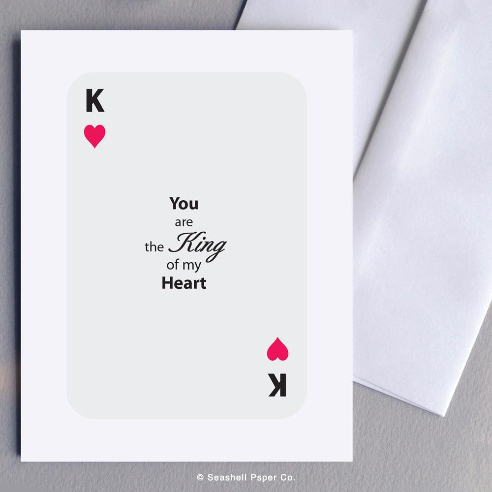 Love King of Heart Card Wholesale (Package of 6) - seashell-paper-co