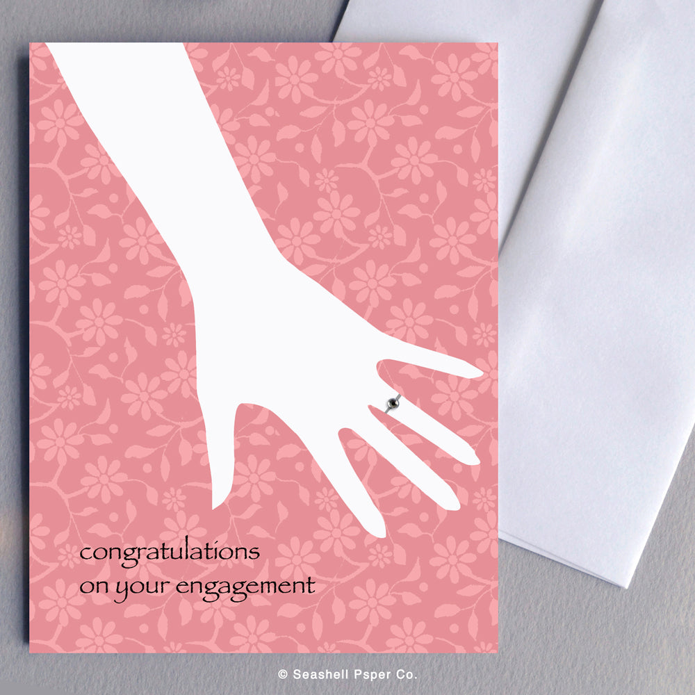 Greeting Cards, Engagement, Engagement Card, Engagement Greeting Card, Congratulations, Congratulations Engagement Card, Congratulations Engagement Greeting Card, Engagement Congratulations, Engagement Congratulations Card, Engagement Congratulations Greeting Card, Ring, Seashell Paper Co., Made in Canada, Sale, Engagement Ring Card