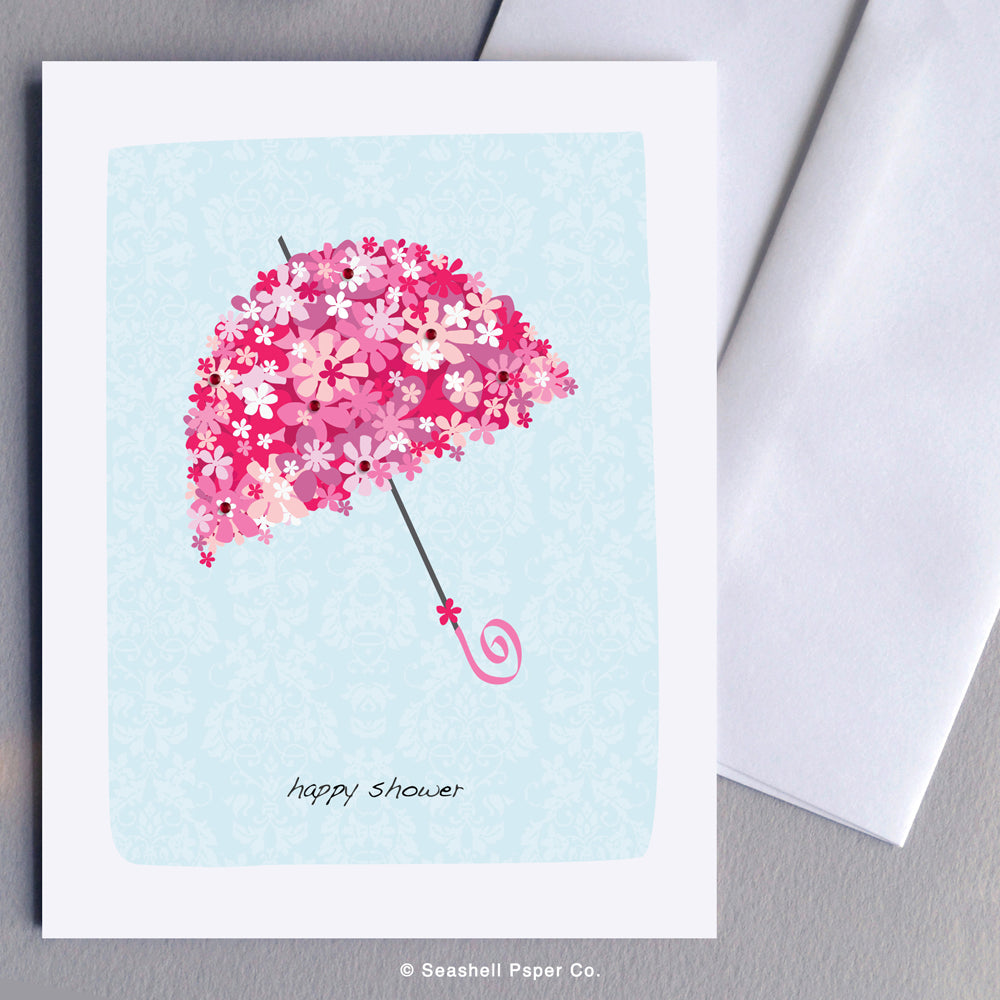 Wedding Bridal Shower Umbrella Card - seashell-paper-co