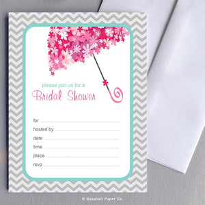 Wedding Bridal Shower Invitation Wholesale (4 Packages, 24 cards & 24 envelopes) - seashell-paper-co