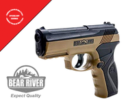 🔥 Bear River Dark Earth CO2 Semi Auto Air Gun Pistol Shoot .177 Cal