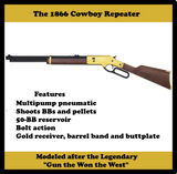 🆕 NEW,  1866 Cowboy Outlaw, BB or Pellet, 800 FPS, Lever Action⭐⭐⭐⭐⭐