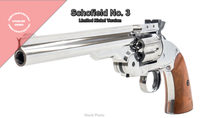 Chrome Collectors Schofield No.3 Revolver - Polished Metal Pistol - CO2 AirGun