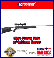 Crosman Nitro (NP) Break Barrel Air Rifle .177 Cal with 4x32 Scope 1200fps⭐⭐⭐⭐⭐