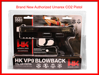 H&K VP9 Black Co2 Blowback Pistol Metal Slide Gun- Semi Auto