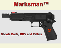 Marksman Zombie .177 Cal. Multi-Ammo Handgun Can shoot BB's, Pellets, Darts