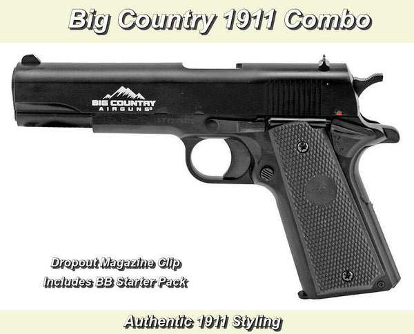 Big Country 1911 .BB 177 Cal. Handgun Combo