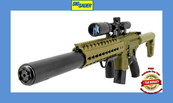 Sig Sauer MCX .177 Caliber 30 Rounds Semi Automatic CO2 Air Rifle with Scope